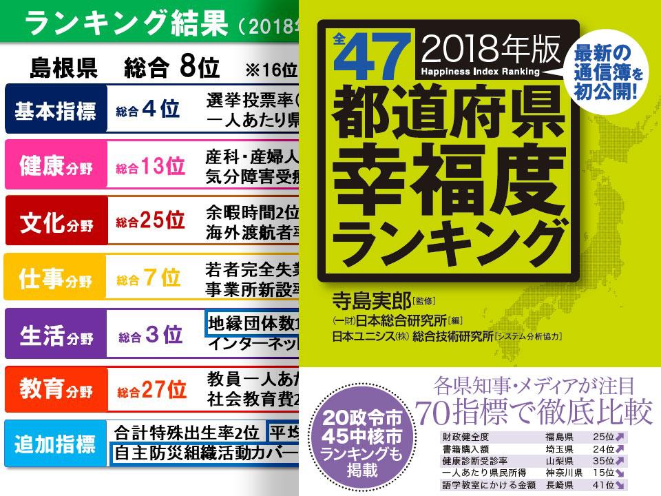 島根県トップセミナーに招かれて―幸福度ランキングのまちづくりへの活用