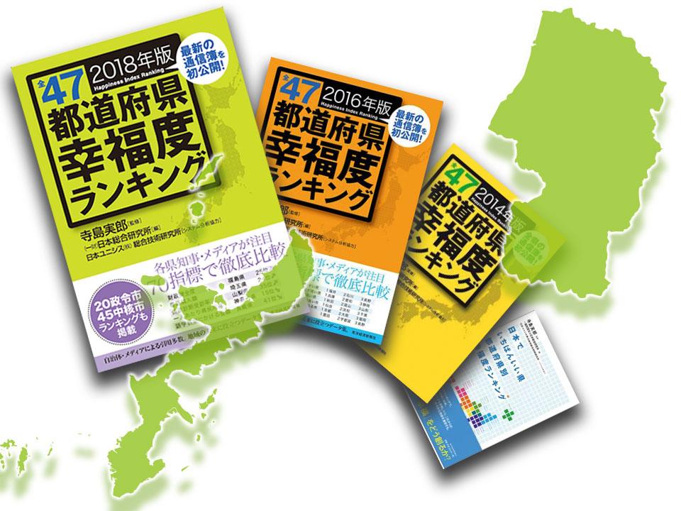 2つの県(山形、沖縄)の幸福度ランキング